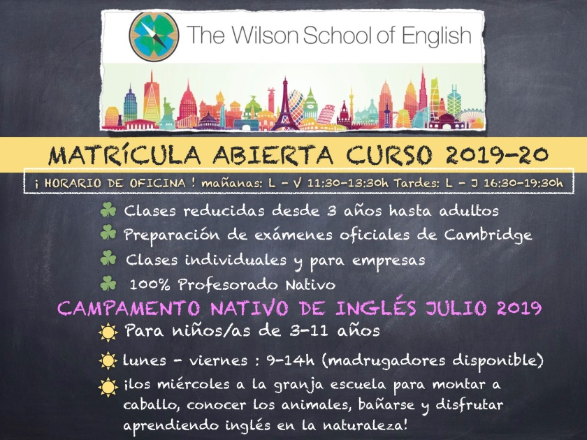 matricula abierta 2019-20 poster